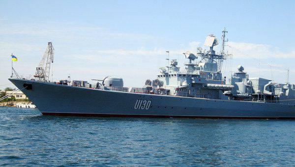 評議員Poroshenko:ウクライナの旗艦「Getman Sahaidachny」について今地獄