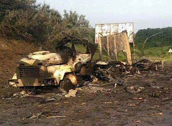 ポルタバ地域(ウクライナ)で、国家警備隊の車が爆発し、「ATO」ゾーンに弾薬を届けました