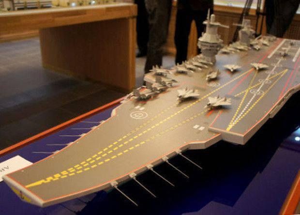 O promissor porta-aviões russo terá duas rampas e duas torres de controle.