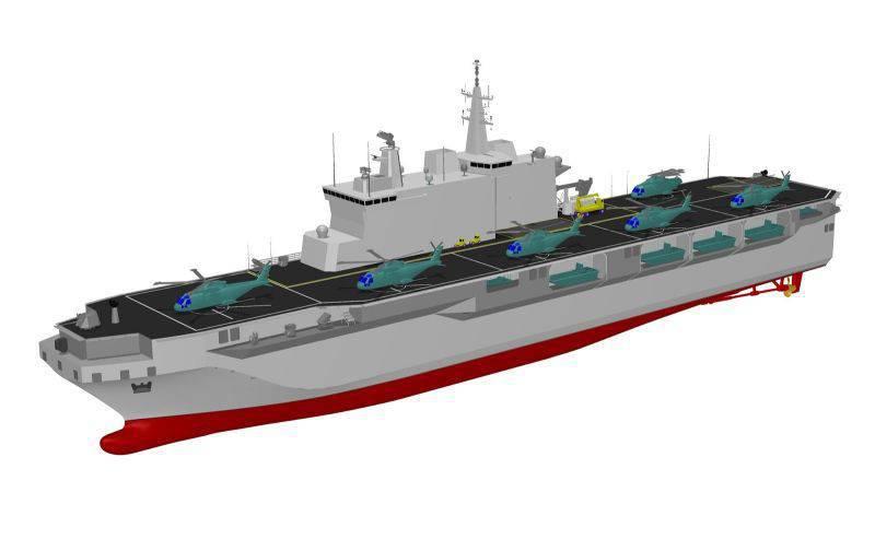 Das Konsortium RTI hat mit dem Bau des Landungsdocks für die italienische Marine begonnen