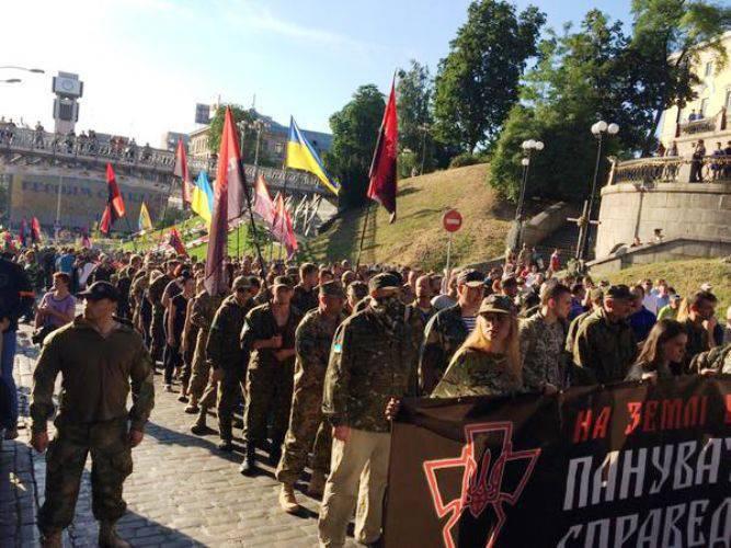 """""""Sector da direita"""" lembrou as autoridades de Kiev"""
