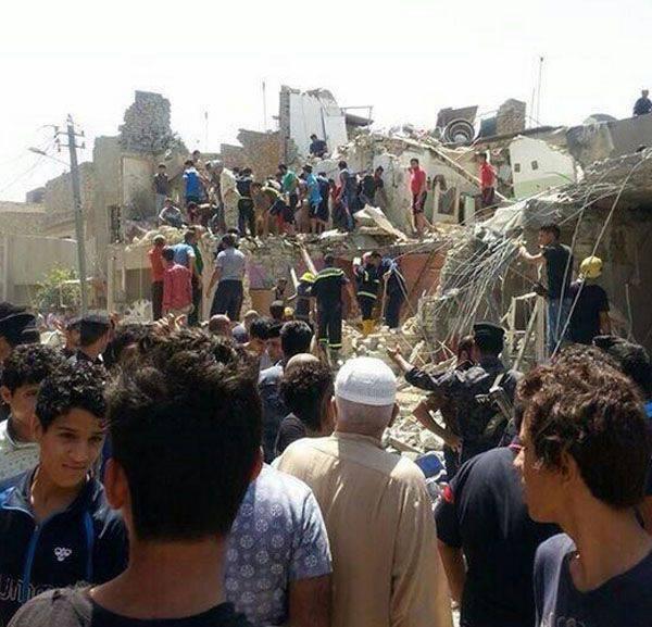 """O Comando das Forças de Defesa Nacional do Iraque afirmou que o avião da Força Aérea iraquiana lançou uma bomba em Bagdá """"devido a um mau funcionamento técnico""""."""
