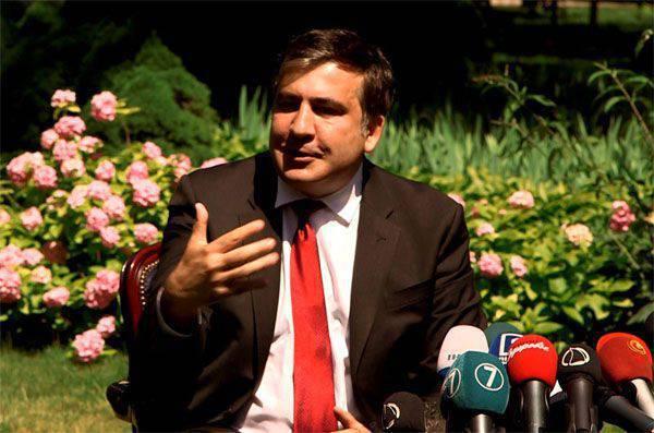 Saakashvili disse que sua equipe vai pagar salários para os Estados Unidos