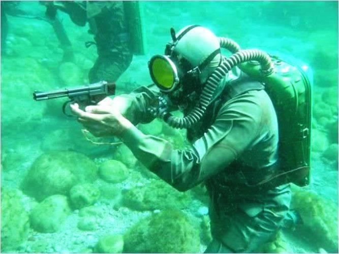 Les nageurs de combat du Conseil de la Fédération ont mené des combats sous l'eau avec un adversaire conditionnel