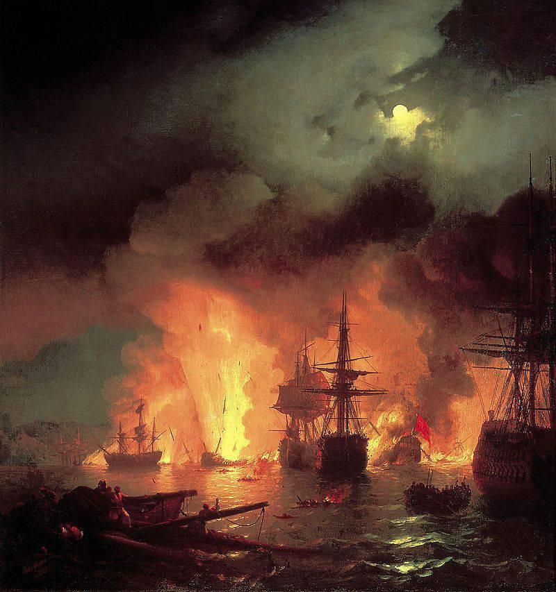 Vor 245 Jahren zerstörte das russische Geschwader die türkische Flotte in der Chesma-Schlacht