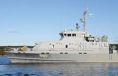 Barco multifuncional para a frota do Báltico lançado em Kaliningrado