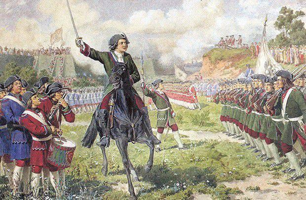 Die Militärkommissare von Peter I.
