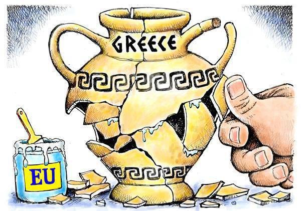 """Griechenland - verlassene Kapitalisten """"Schaufenster"""""""