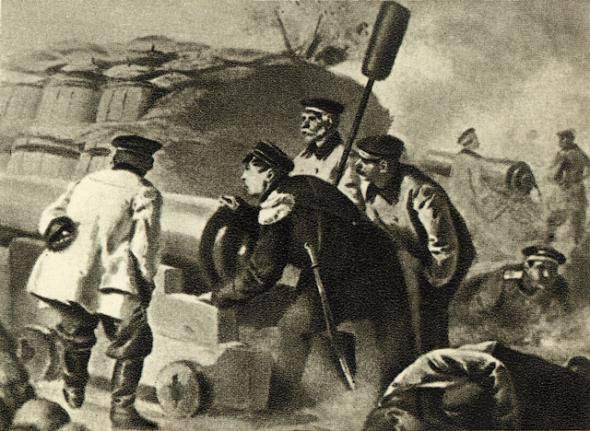 """12 Juli 1855, Sewastopol verlor seine """"Seele der Verteidigung"""". Der große Admiral Pavel Stepanovich Nakhimov starb"""