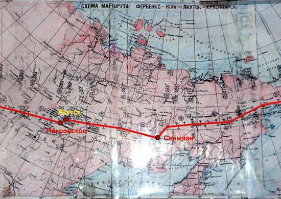 Comboios aéreos na rota aérea Alasca - Sibéria