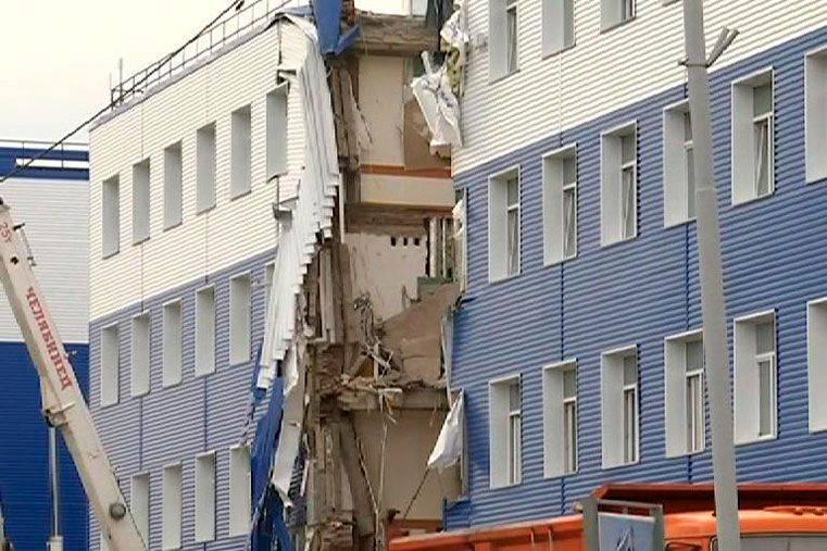 Der Zusammenbruch der Kaserne in der Region Omsk