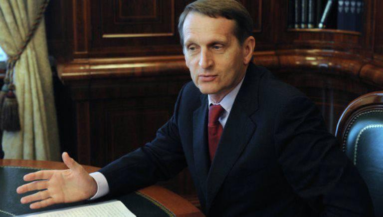 """Naryshkin: """"L'Europe attend une série de chocs graves"""""""