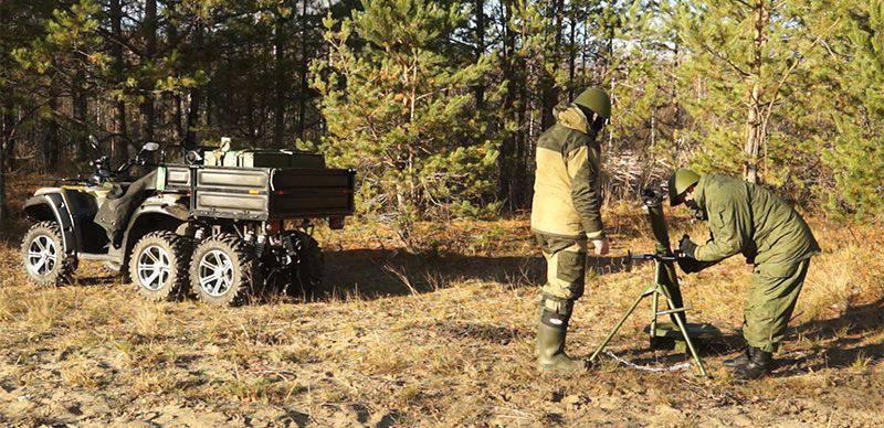 基于全地形车的移动82-mm迫击炮PM-500 6x4