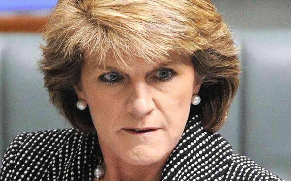 """澳大利亚外交大臣朱莉·毕晓普(Julie Bishop)在YouTube视频上""""证实了亲俄罗斯叛军卷入马来西亚波音坠机事件"""""""