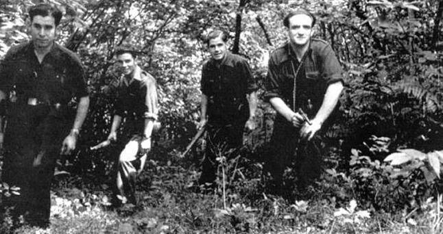 Spanish partisans against Franco