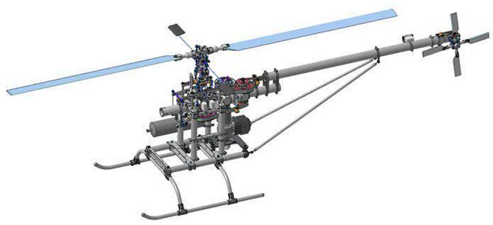 """En la Federación Rusa, se está creando un complejo de reconocimiento con un helicóptero no tripulado """"Crow 120"""""""