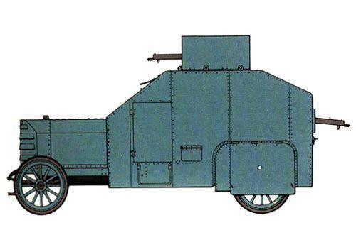 기갑 된 차량 Isotta Fraschini RM. 이탈리아 최초의 장갑차