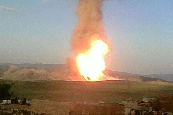 トルコでガスパイプラインが爆発
