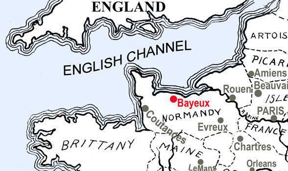 Bayeux (1의 부분)에서 태피스 트리의 신비