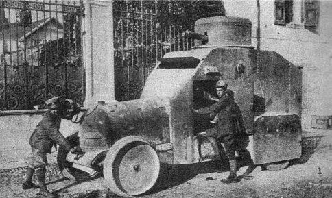 Bianchi'nin ilk zırhlı araçları (İtalya)
