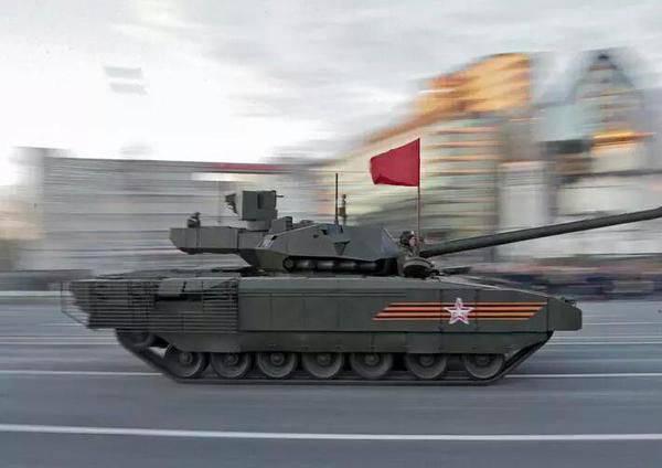 """탱크로 무장 한 1-th 가드 탱크 군 T-14 """"Armata""""와 BMP """"Kurganets"""""""