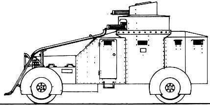 Armored cars Lancia 1Z (Italy)