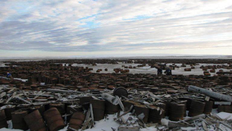 Sull'isola di Kotelny, una divisione speciale del Consiglio della Federazione ha assemblato 50 e rottami metallici.