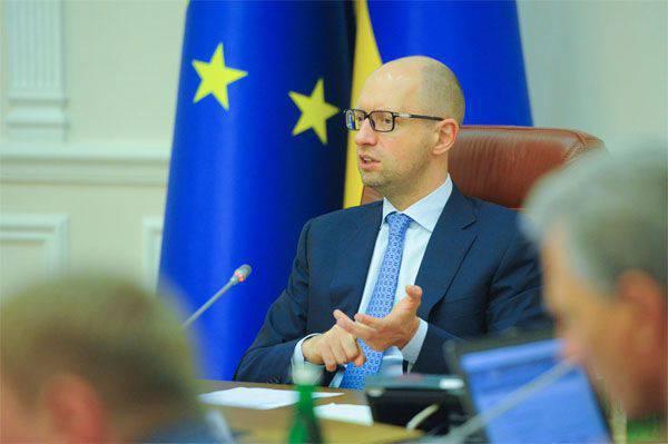 """Yatsenyuk """"B planı"""" na geçişi ilan etti"""