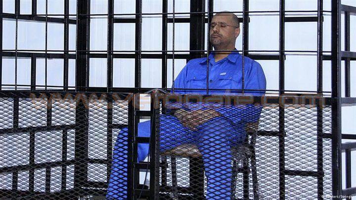 的黎波里的审判。 Saif al-Islam Gaddafi被判处死刑