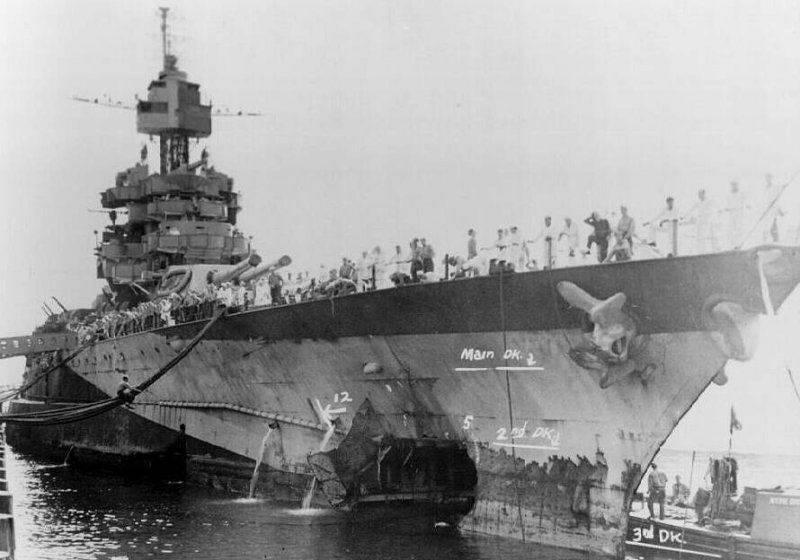 Navires de dommages de combat