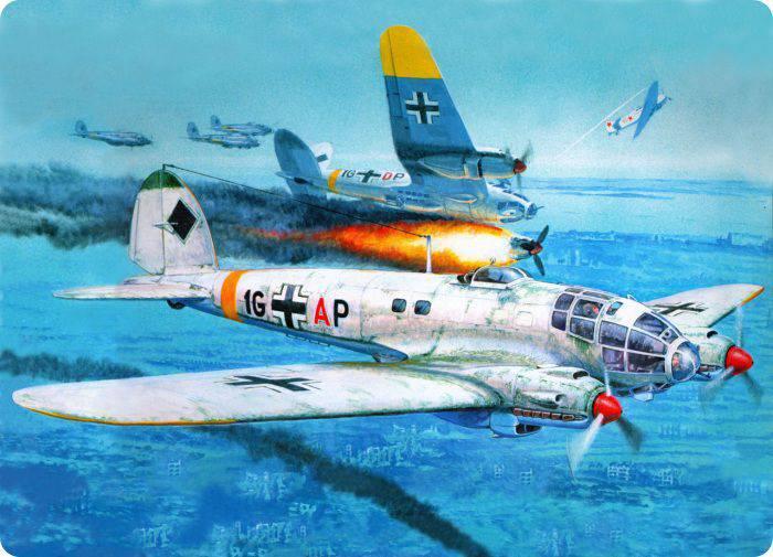 Heinkel He-xnumx. Partie de 111. Dans le ciel de la seconde guerre mondiale