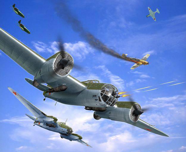 高速爆撃機が座った。 パートII。 航空機の兵士