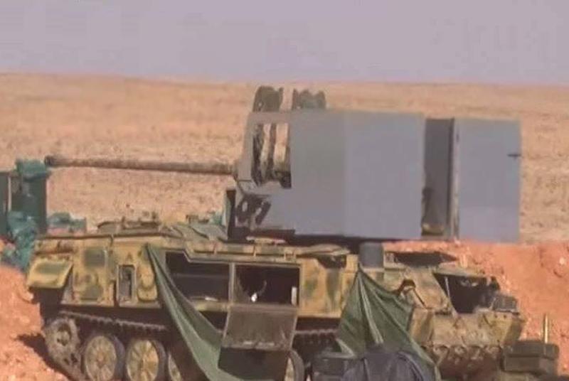 シリアアラブ軍の工芸品:57K60発射装置に搭載されたC-2 12-mm対空砲