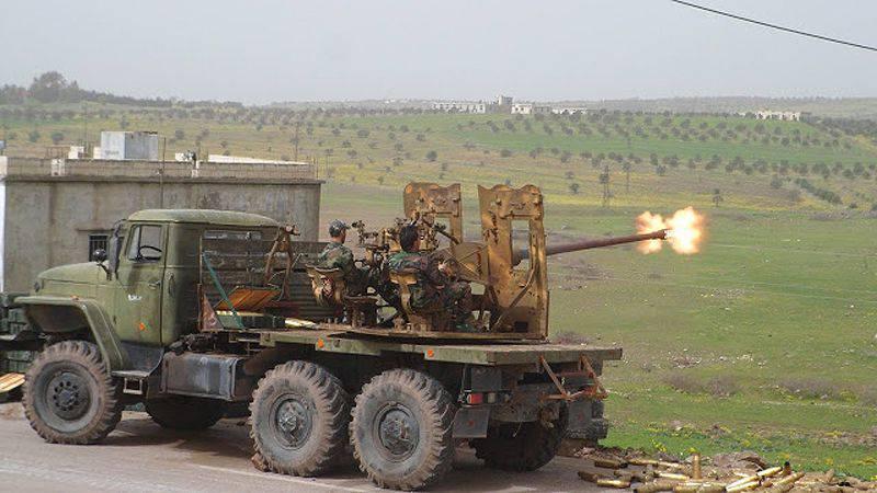 Поделки Сирийской Арабской Армии: 57-мм зенитные пушки С-60 установленные на пусковые установки 2K12