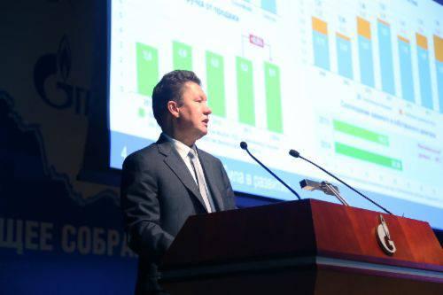 """""""가즈프롬 (Gazprom)""""대표는 중화 인민 공화국에서 가스 파이프 라인 건설 프로젝트 진행에 관해 이야기했다."""