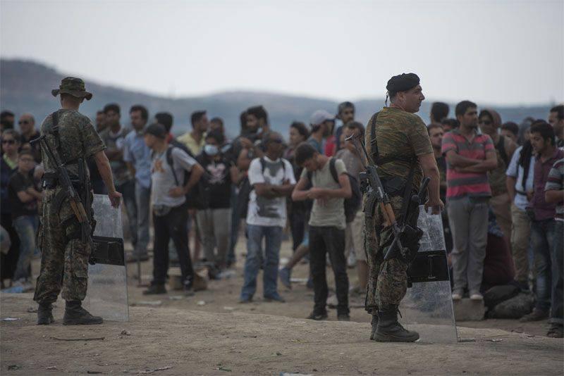 La Macédoine a instauré l'état d'urgence à la frontière avec la Grèce
