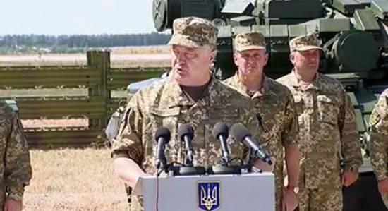 Poroshenko: Ukrayna ordusunun savaş yeteneği on kat arttı