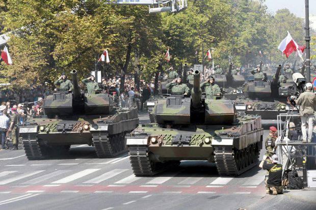 ワルシャワの軍事パレード