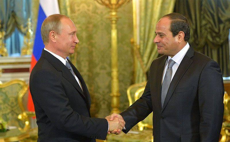 블라디미르 푸틴 대통령과 이집트 대통령과의 회담