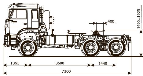 KamAZ-65225 트럭 트랙터