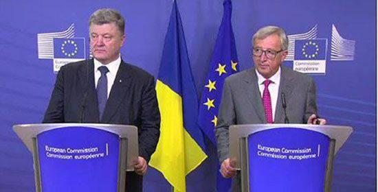 """Poroshenko """"ha esortato"""" a cessare il fuoco nel Donbass e ha nuovamente parlato della necessità di introdurre la missione di """"mantenimento della pace"""" dell'UE nella regione"""