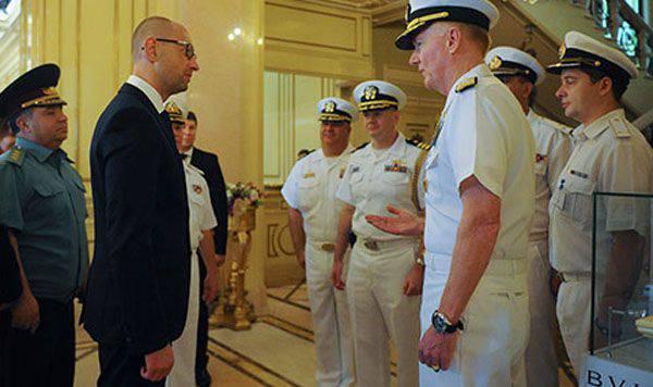 Yatsenyuk à Odessa a pris part à la cérémonie officielle de lancement des exercices Sea Breeze 2015 et a annoncé le retour de la marine ukrainienne en Crimée
