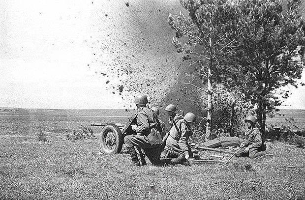 Kızıl Ordu'nun tank karşıtı topçuları