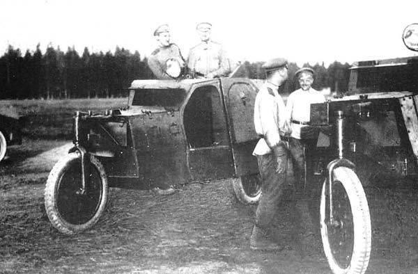 """Veicoli blindati """"Triciclo"""" N.M. Filatov"""