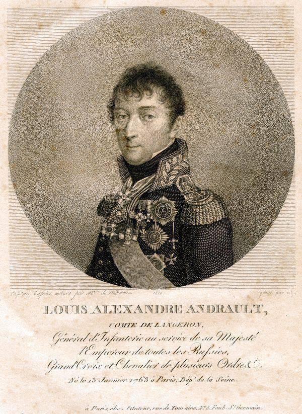 Portrait du comte Alexandre Langeron
