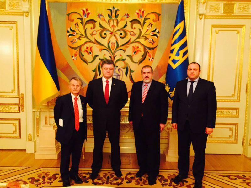 "R. Chubarov kündigte am 20-21-September den Beginn der ""Blockade der Krim"" durch krimtatarische Aktivisten an"