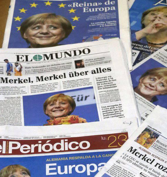 Snide comments. Germany again über alles?