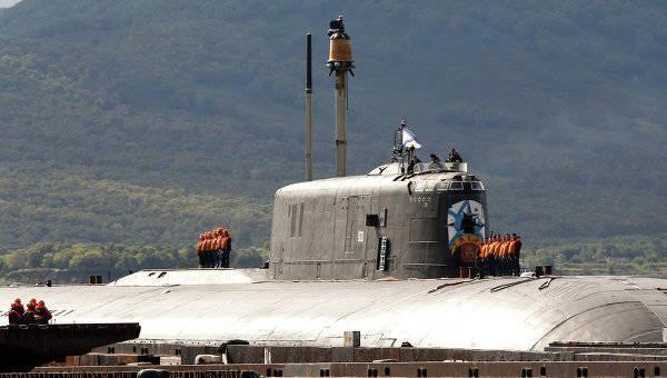 """Gli incrociatori missilistici sottomarini nucleari """"Antey"""" hanno completato la fase preparatoria degli esercizi delle forze della flotta settentrionale"""
