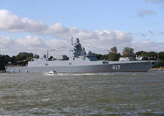 """The frigate of the 22350 project """"Admiral of the Fleet of the Soviet Union Gorshkov"""" went to state trials in the White Sea"""