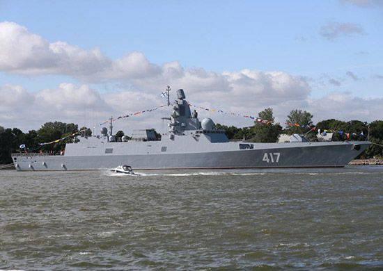 """La fragata del proyecto 22350 """"Almirante de la Flota de la Unión Soviética Gorshkov"""" fue a los juicios estatales en el Mar Blanco"""